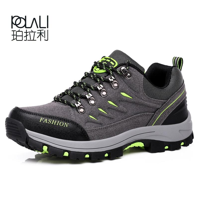 dd47e67cea0b POLALI New Men Women Hiking Shoes Waterproof Camping Sports Shoes Trekking  Climbing Mountain Non-Slip