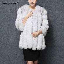 Women Luxury Faux Fur Coat Long Sleeve White Red Pink Colored Fur Coats Warm Fluffy Jacket Furry Winter Coat Women Outerwear