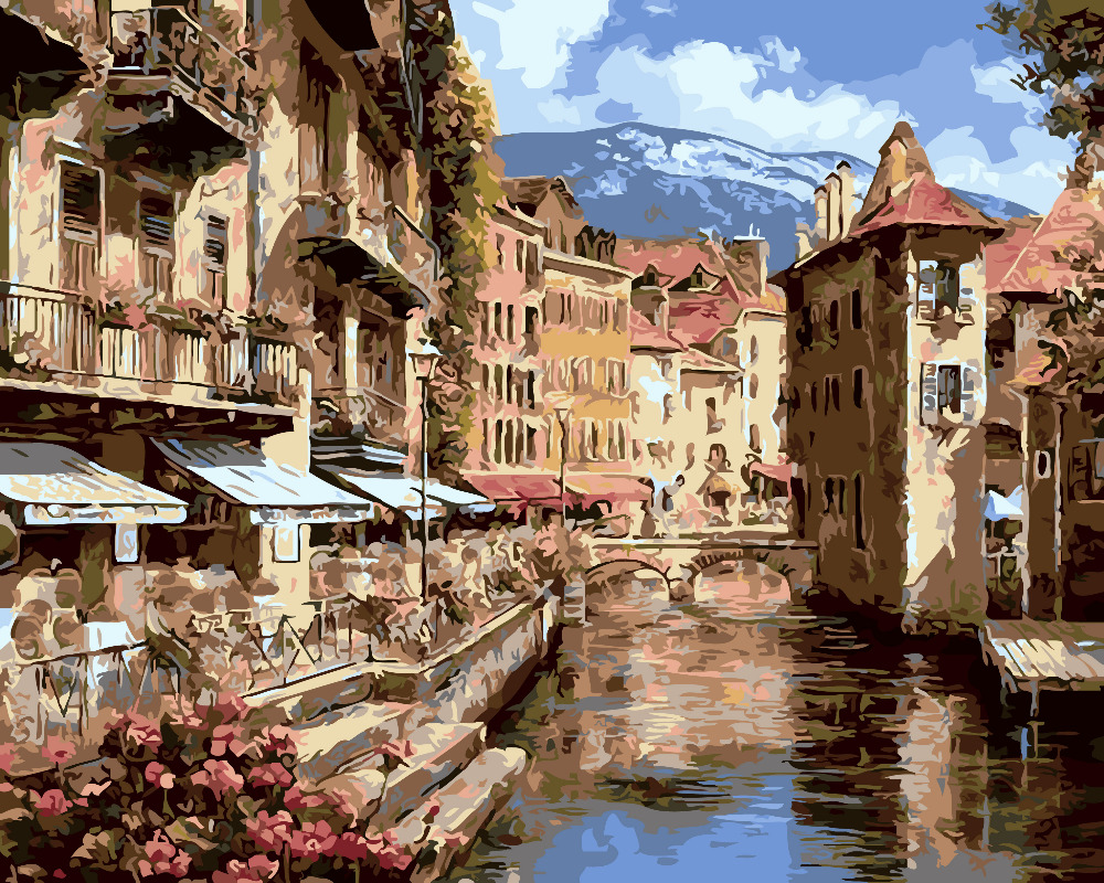 City Of Florence: HQ Romantic Italy City Of Florence Home Decor Painting
