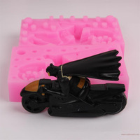 1Pcs Motorcycle Shape Silicone Fondant Mold 3D Cake Decorating Tools Chocolate Cake Mold Silicone Baking Tools