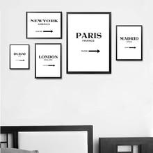 Custom Destination Sign Wall Art Print Poster Gossip Girl Fashion Canvas World Cities