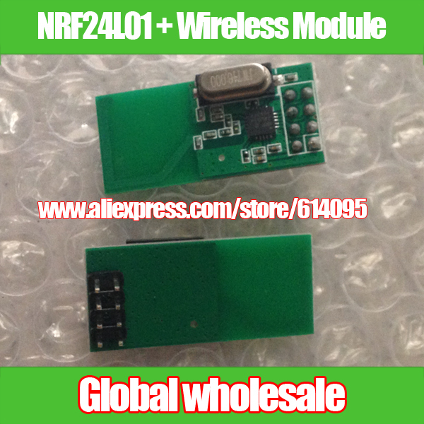 Free shipping Original Genuine NRF24L01 + Wireless Module / 2.4G wireless communication module / 2.54mm Interface 2.4G module