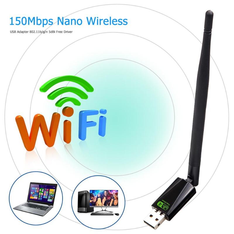 USB2.0 Networking Card Wireless WiFi Adapter Dongle 150Mbps Lan Network Card Receiver With Antenna
