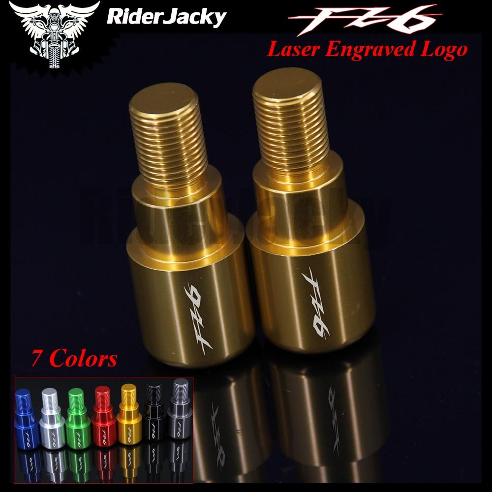 RiderJacky CNC Motorcycle Handlebar Ends Grips Slider For Yamaha FZ6 FZ 6 2004-2007 2005 2006 Motorbike Handler Bar