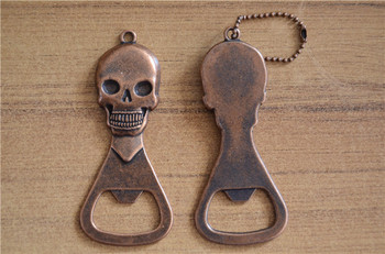 DHL Free shipping  30 PCS Metal beer bottle opener to show off the skull beer from the bottle