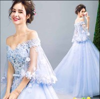 Plus Size 5XL Luxury Sequin Blue Prom Ball Gown Evening Party Dress Women Wedding Bridal Gown Birthday Gift For Women 6XL 4XL