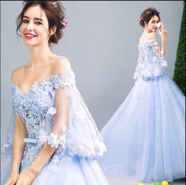 Plus Size 5XL Luxe Sequin Blue Prom Baljurk Avond Party Dress Vrouwen Bruiloft Bruidsjurk Verjaardagscadeau Voor Vrouwen 6XL 4XL-in Jurken van Dames Kleding op  Groep 1