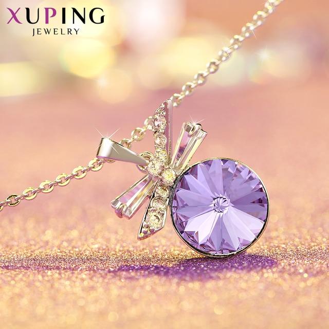 Xuping bijoux élégant pendentif collier cristaux de Swarovski pas cher Promotion cadeaux de noël dames S151-40214
