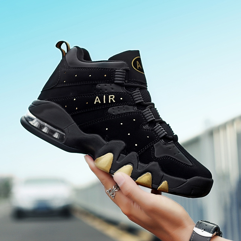 Men/'s Basketball Shoes High Top Sports Sneakers Air Cushion Retro Athletic Boots