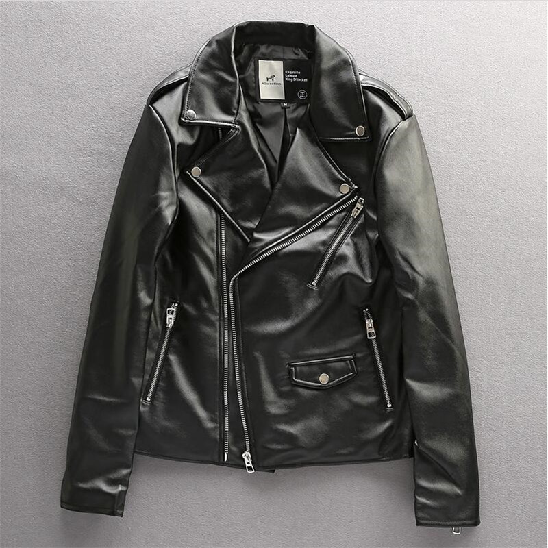 High Quality Leather Jacket Men Fashion PU Jackets Male Winter Warm Motorcycle Jacket coat Plus Size 3XL A5120