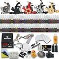 Profesional Del Tatuaje Del Kit 5 Ametralladoras 54 Tintas Apretones de Las Agujas Consejos de Alimentación Del Tatuaje