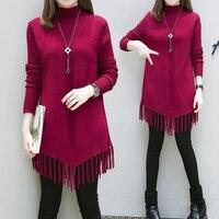 4xl Tassel Long Knit Sweaters Female Y0466