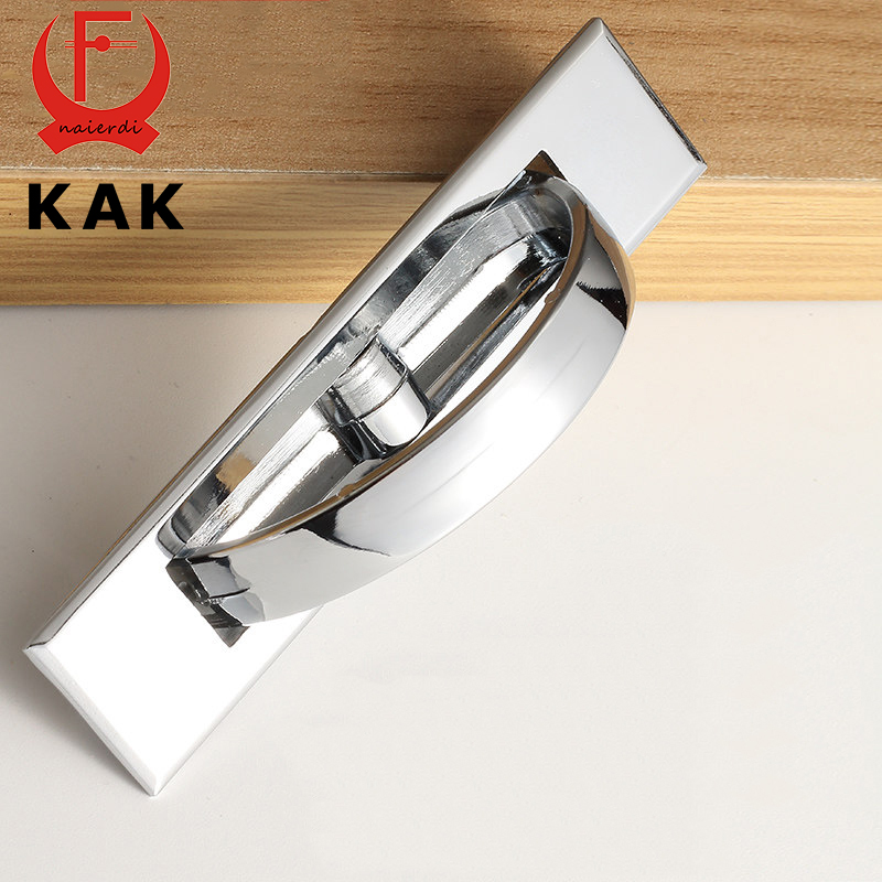 KAK Tatami Hidden Door Handles Zinc Alloy Recessed Flush Pull Cover Floor