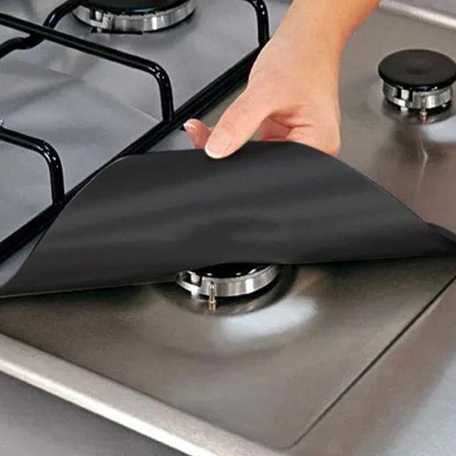 Baik Dapur 4 Pcs Set Kompor Gas Pelindung Sarung Penggaris Bersih Alas