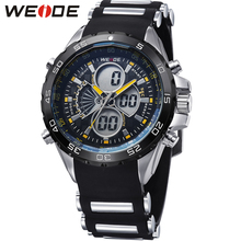 купить Original Fashion WEIDE Army Sport Watch Men Digital Quartz LED Alarm Silicone Strap Running Waterproof Man Wristwatches Relogios онлайн