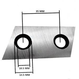 Image 3 - 1 זוג גן מגרסה להבים עליז סכיני עבור אקו ES1600 McCulloch MCS2001