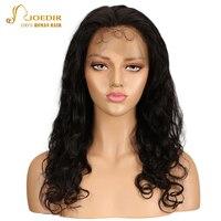 Joedir 360 кружева фронтальной парик объемной волны натуральные волосы парики для Для женщин 360 Кружева Фронтальная парик предварительно сорва