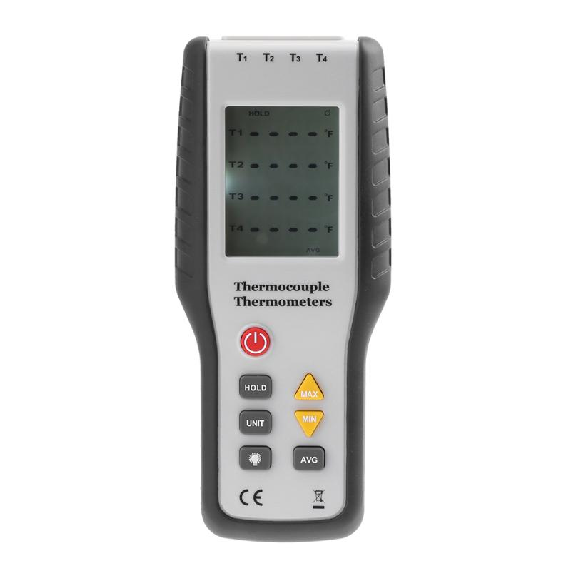 K Type Digital Thermocouple Thermometer Probe Sensor Temperature Tester Portable Industrial Thermometer -200~1372 Degree 2000 1850m wrn 230 k type fabricated thermocouple industrial temperature sensor with screw