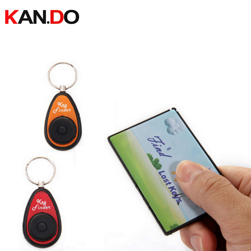 F820 Card Shape Finder W/ 2 Receivers,Long Working Range Remote Searching Alarm Electronic Key Finder Anti Lost Alarm Tracker
