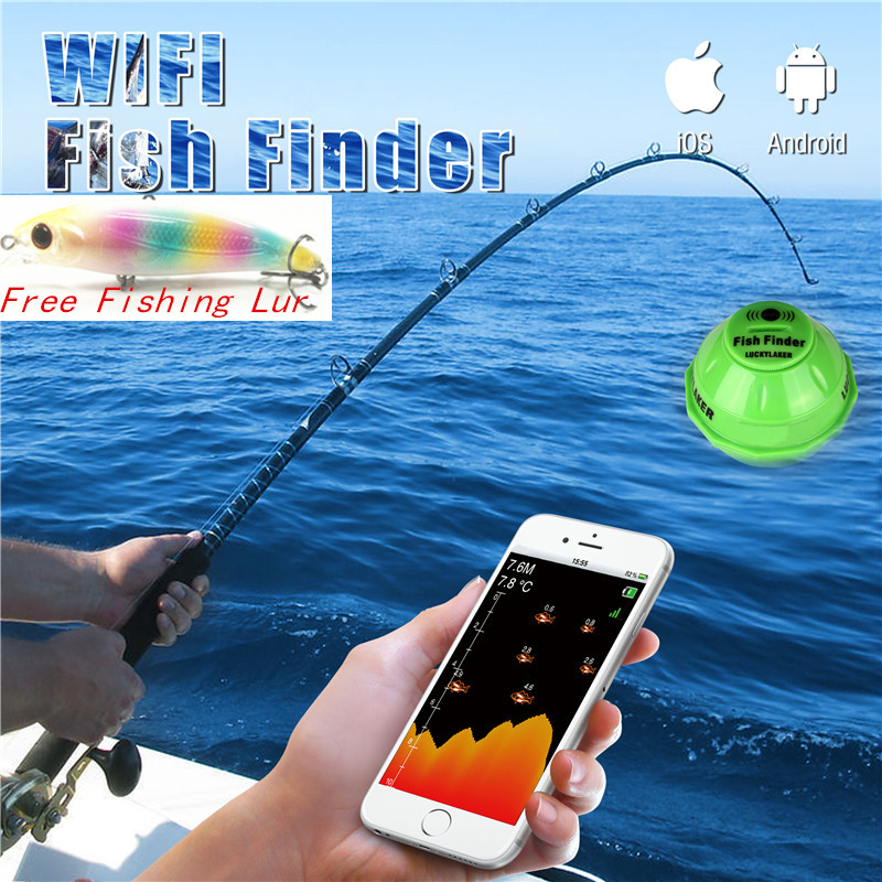 LUCKY FF916 WiFi Fish Finder Wireless English Sonar ...