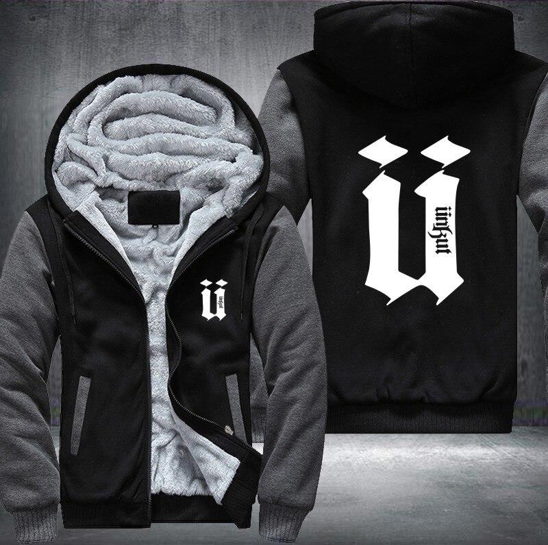 952f84a8626 Unkut Hoodies Men Hip Hop Mens Ringer Thicken Fleece Long Sleeve Jacket  Free Shipping Fashion USA