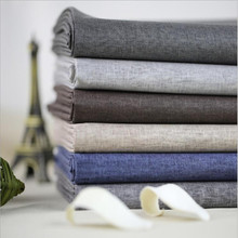 Free ship cotton & linen Waterproof canvas fabric 8 colors for choice sold by meter 55 7meter/lot