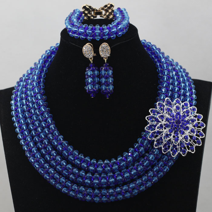 Multicolor Fancy Crystal Beads Necklace Handmade Jewelry Sets ...