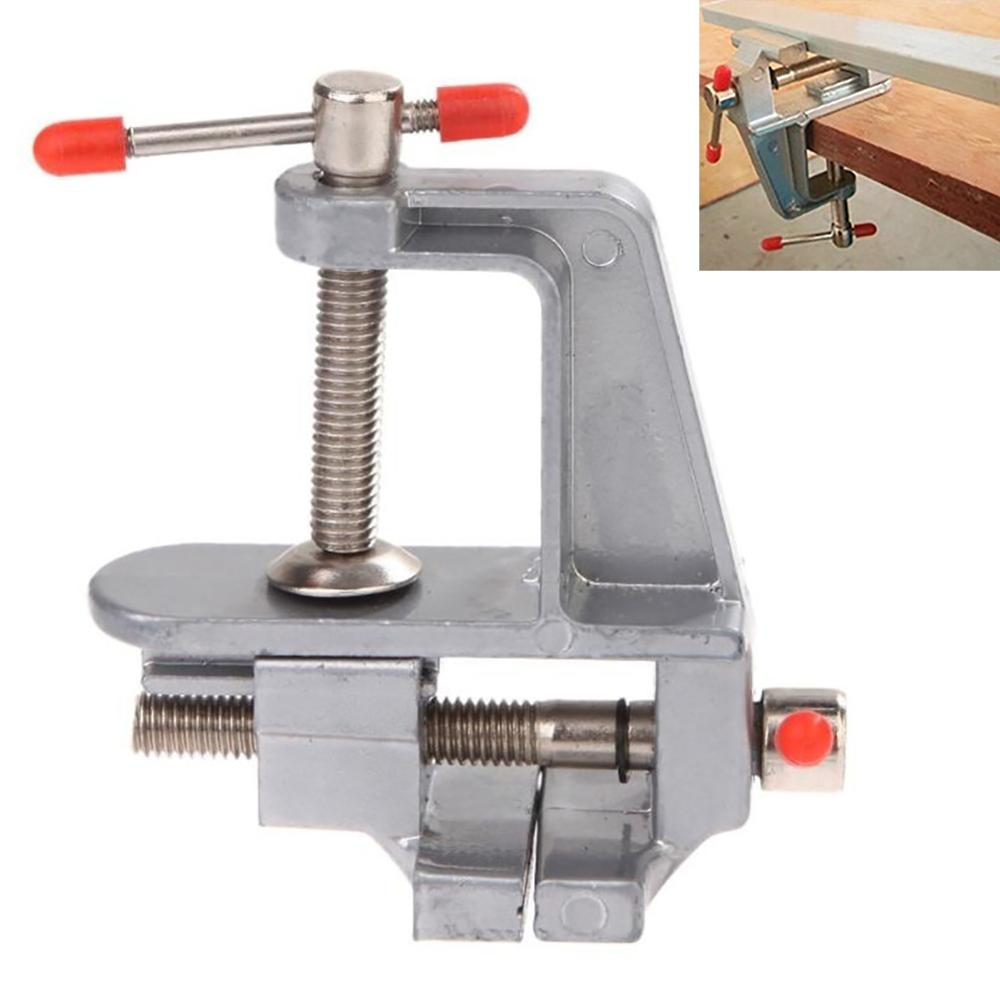 New Hot Sell 3.5inch Aluminum Miniature Small Jewelers Hobby Clamp on Table Bench Vice Mini Tool Vice Smooth Muliti-Funcational image