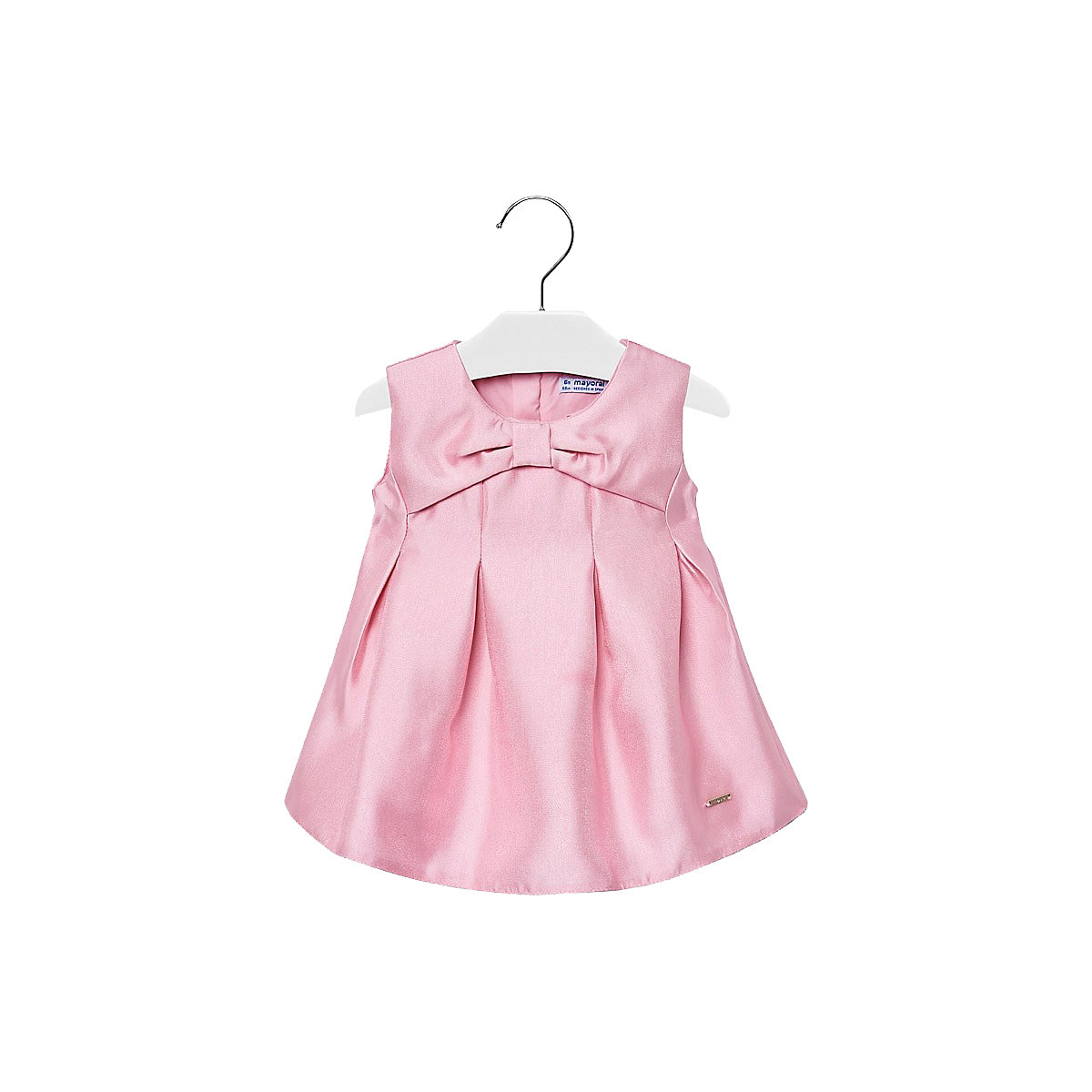 MAYORAL Dresses 10678708 Girl Children Party fitted pleated skirt Pink Polyester Preppy Style Solid Knee-Length Sleeveless Sleeve navy velvet mini pleated skirt