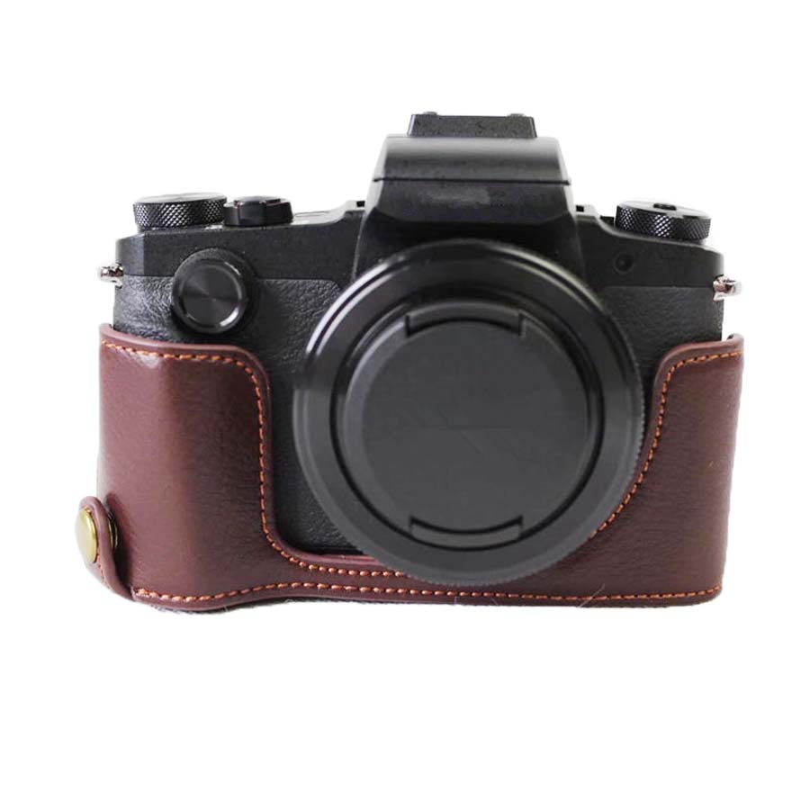 Genuine Leather Camera <font><b>Case</b></font> Half Body Cover For <font><b>Canon</b></font> <font><b>G1X</b></font> Mark III <font><b>G1X</b></font> III camera <font><b>case</b></font> Open Battery image