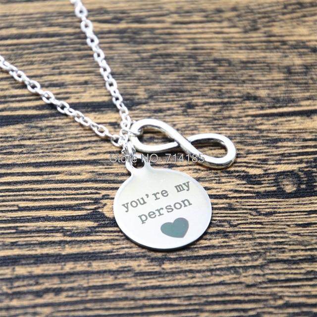 12 unids/lote eres mi persona Anatomía de Grey, collar, corazón ...