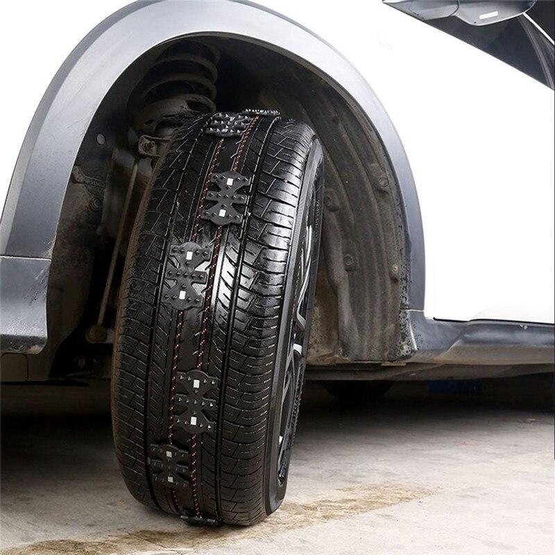 Anti-Slip Universal Black Emergency Tire Chain