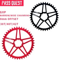PASSQUEST BB30 GXP Bicicleta Cadeia roda 38 T 40 T 42 T Rodada Prato Único Disco Águia x1 x9 x0 MTB Mountain Bike Acessórios Correia da bicicleta     -