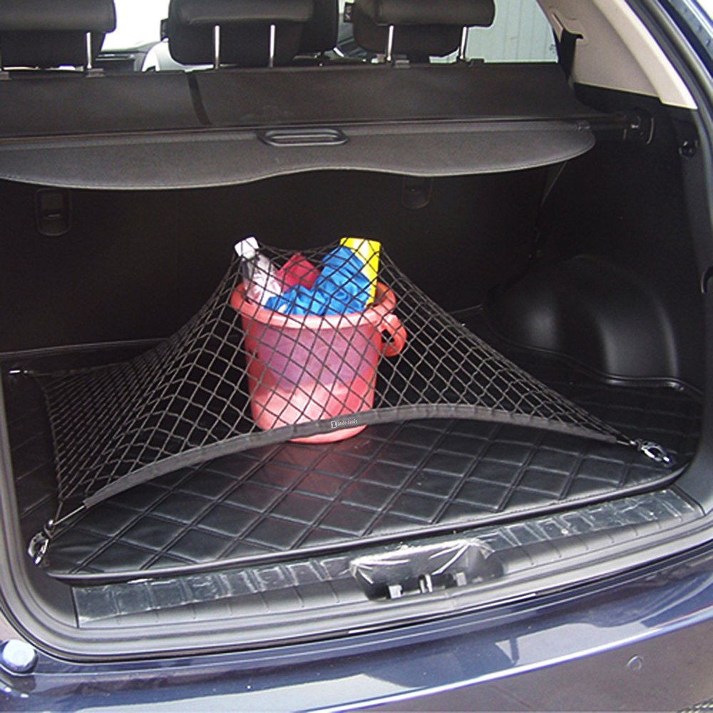 Image 4 - Car Auto Trunk Mesh Organizer 110x60cm Luggage Stuff Cargo Goods Fix Storage Holder Net Universal Accessories-in Stowing Tidying from Automobiles & Motorcycles