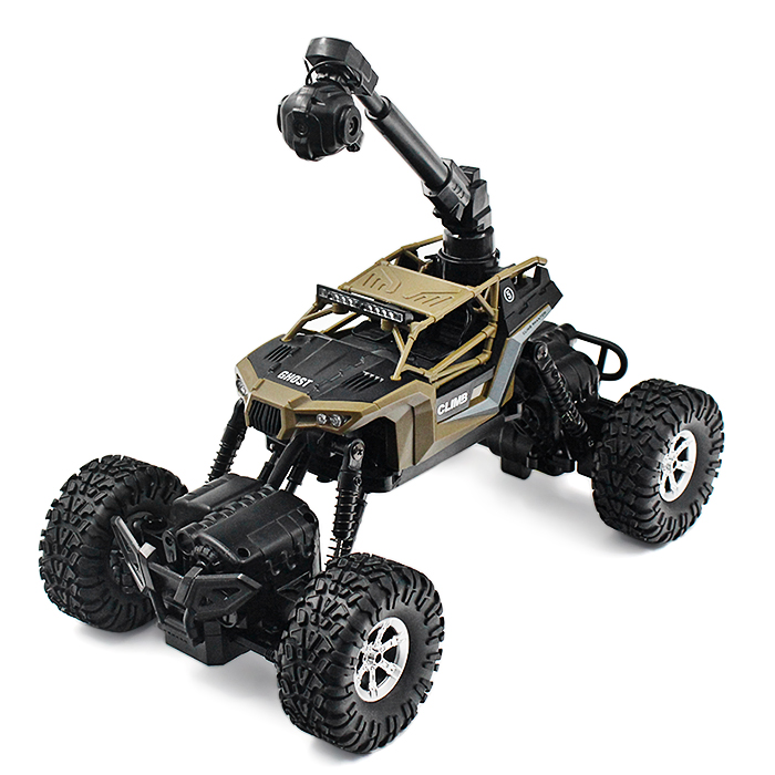 1:16 Scale Waterproof RC Climbing Car RTR WiFi FPV 0.3MP Camera / 4WD 2WD Switchable 2.4GHz Wireless Remote Control Toys1:16 Scale Waterproof RC Climbing Car RTR WiFi FPV 0.3MP Camera / 4WD 2WD Switchable 2.4GHz Wireless Remote Control Toys