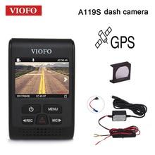 VIOFO Car DVRs A119S Upgraded V2 2.0″ Super Capacitor Dashcam NT 96650 HD 1080P GPS Car Dash Camera CPL Hardwire Cable Fuse DVR