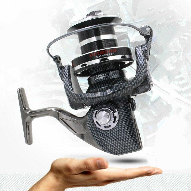 ФОТО FDDL 10000 full metal wire cup wheel spinning wheel type fishing line investment by sea rod fishing ship wheel gear wheel