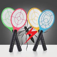 2018 New Mosquito Swatter Killer Electric Tennis Bat Handheld Racket Insect Fly Bug Wasp #XT(China)