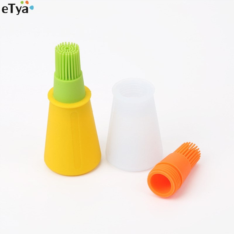 Barbecue Brush Barbecue Oil Bottle Food Grade Silicone Brush High-temperature Resistent Kitchen Baking Tools