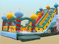 Guangdong fabricantes que venden toboganes inflables, castillo inflable
