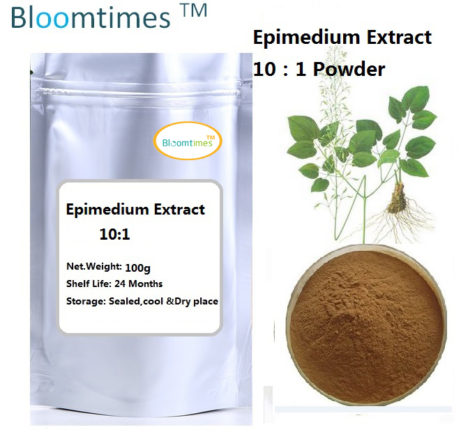 Natural Epimedium extract 10:1 yin yang huo 100g/lot  for healthcare supplement  for long time sex tremella fuciformis extract polysaccharides 10 1 powder 100g lot