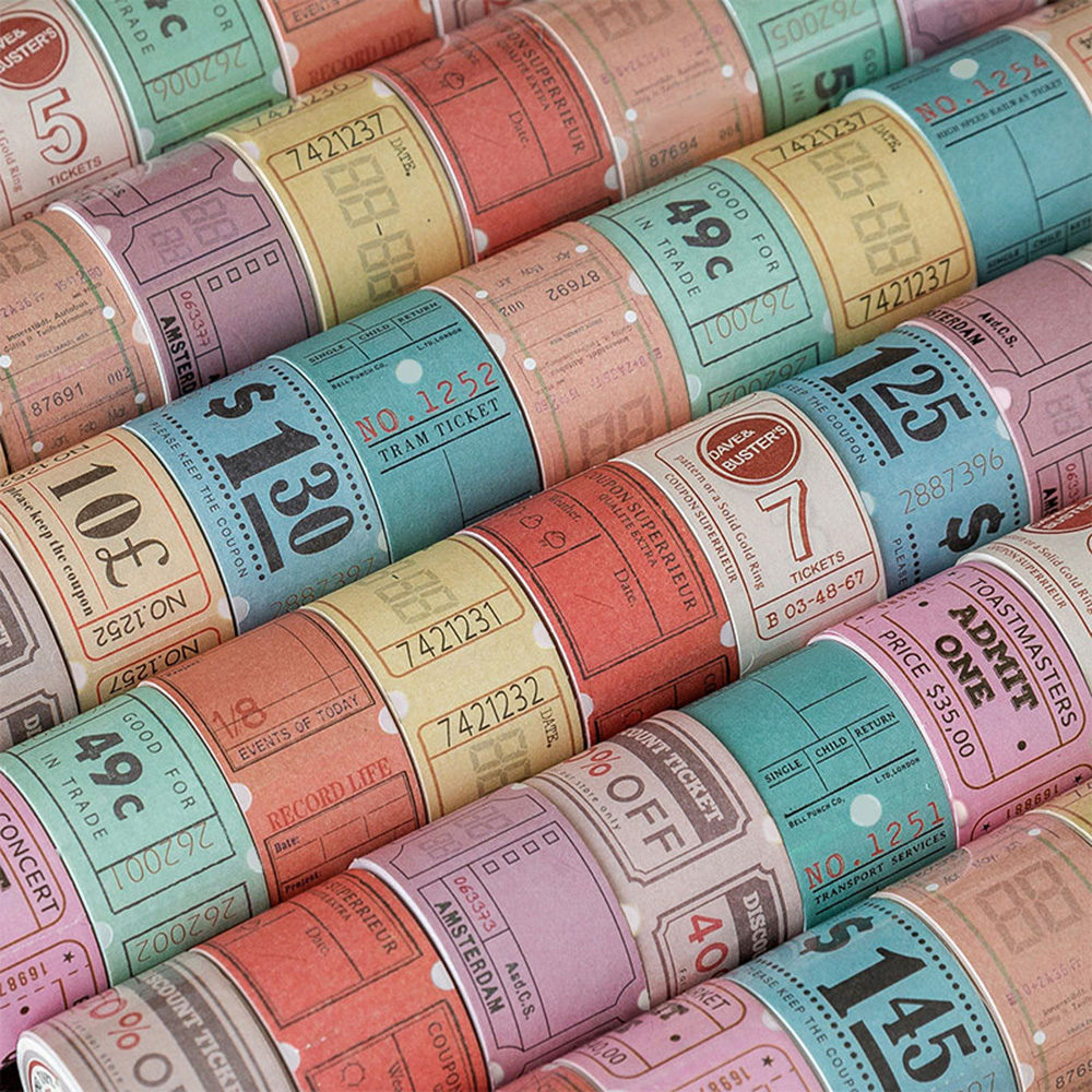 3cm*5m Classical Masking Tape Retro Paper Can Be Torn Series Decorative Adhesive Scrapbooking DIY Diary Label Paper Stationery