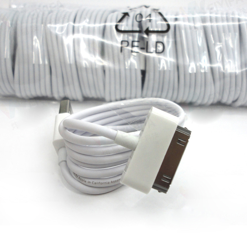 10PCS/Lot USB Charger Cable for Apple iPod Mini iPad 3 2 iPod Nano Touch 30Pin Charger Cable For iPhone 4s 4 iphone 3G 3GS|Mobile Phone Cables| |  - AliExpress