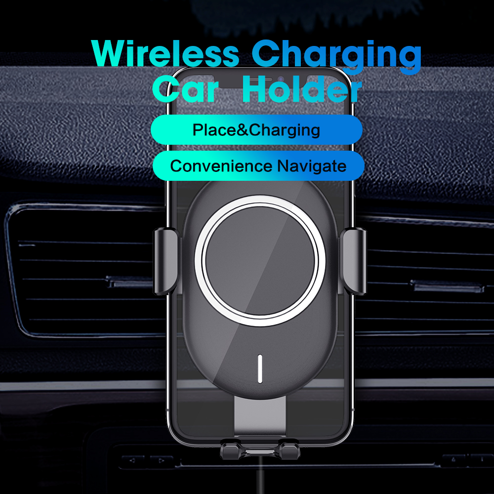 SIKAI 10W Air Vent Mount Phone Holder Qi Wireless Car Charger with Electromagnetic Induction For iPhone XS Max X 8SIKAI 10W Air Vent Mount Phone Holder Qi Wireless Car Charger with Electromagnetic Induction For iPhone XS Max X 8