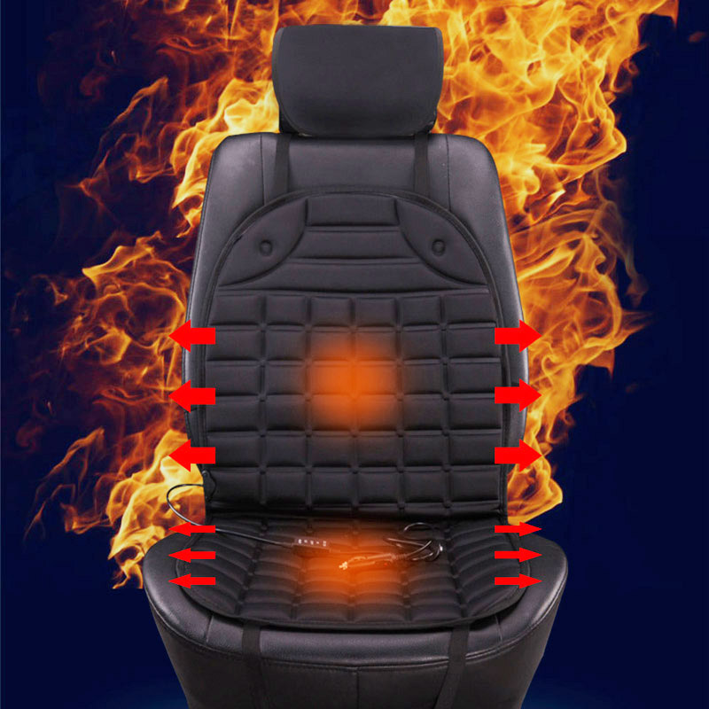 купить 2018 single/pair 12v electric heated cushions for winter heating car seat cushion,keep warm car seat cover quality guarantee по цене 655.41 рублей