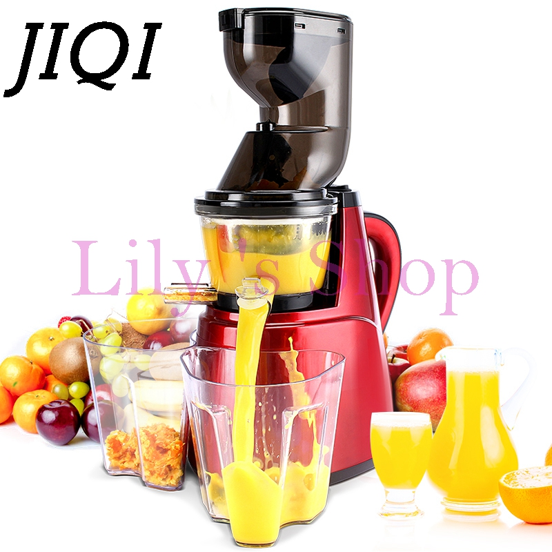 цена на Large wide diameter electric juicer slow speed large-caliber Extractor nutrition fruit Vegetable orange juice machine EU US plug