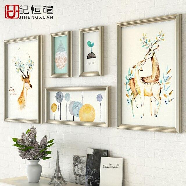 Bilderrahmen Modern plus größe wohnzimmer dekor sofa kulisse wänden bilderrahmen set