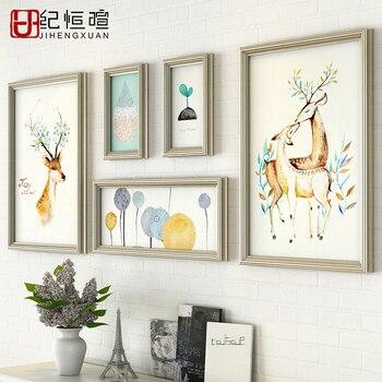 Plus Size Woonkamer Decor Sofa Achtergrond Muren Fotolijsten Set ...