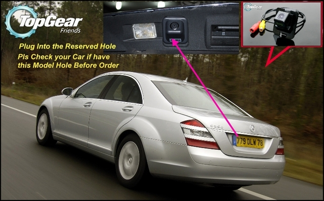 Original Reserved Hole Car Camera For Mercedes Benz S