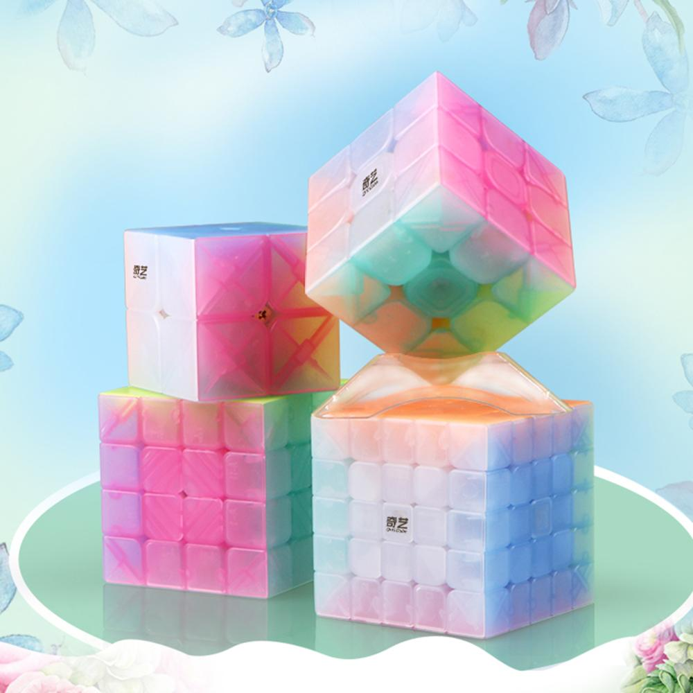 2019 New Arrivals <font><b>Qiyi</b></font> <font><b>Qiyuan</b></font> <font><b>S</b></font> <font><b>4x4</b></font> Anti-POP Magic Cube Educational Toys for Brain Trainning - Jelly Color image